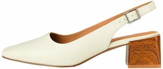 Find. Amazon Brand Square Toe Block Heel Slingback Closed