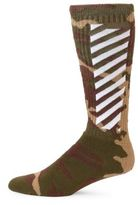 Off-White Camouflage Diagonal Socks