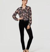 LOFT Petite Modern Skinny Velvet Pants