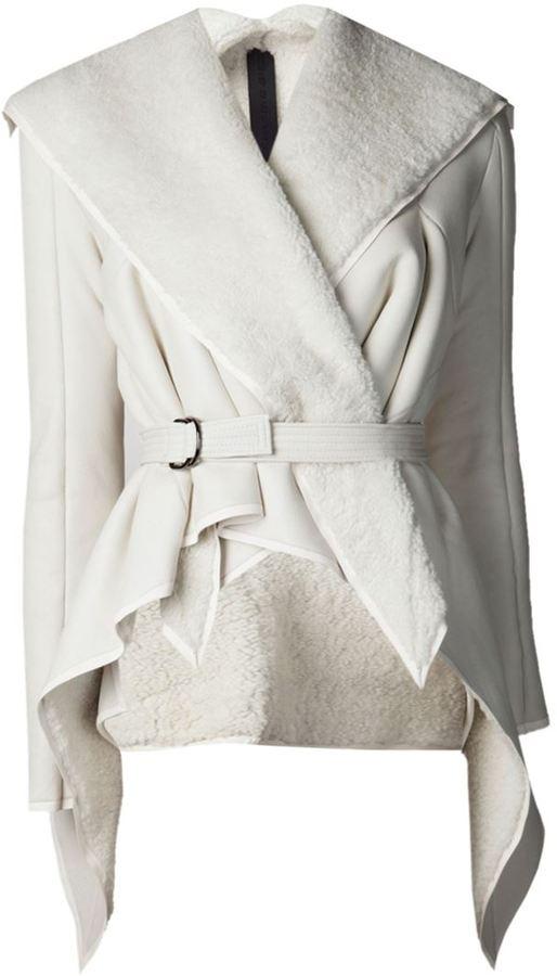 Gareth Pugh shearling collar jacket