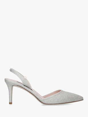 Sarah Jessica Parker Bliss Sling Back Court Shoes, Silver
