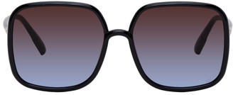 Christian Dior Black Oversized SoStellaire1 Sunglasses