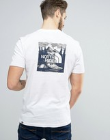The North Face Redbox Celebration T-shirt Back Print In White