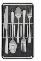 Cambridge Silversmiths Glynis 40-Piece Satin Stainless Steel Flatware Set in Marble & Chrome Buffet