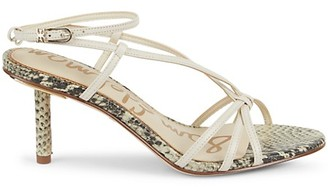 Sam Edelman Pippa Snake-Print Leather Sandals