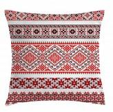 "Indoor / Outdoor Ikat 36"" Throw Pillow Cover East Urban Home"