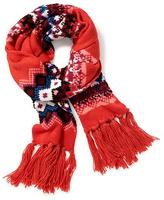 Old Navy Jacquard Fringe Scarf for Women
