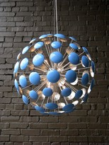 The Well Appointed House Bilbao Baby Blue and Silver Leaf Chandelier