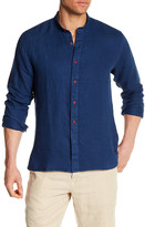 Toscano Long Sleeve Linen Twill Regular Fit Shirt