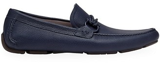Salvatore Ferragamo Front 4 Leather Driving Loafers
