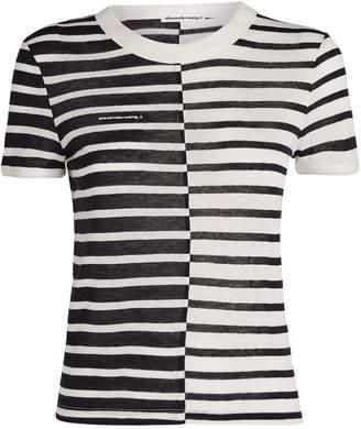 Alexander Wang Stripe Shrunken T-Shirt