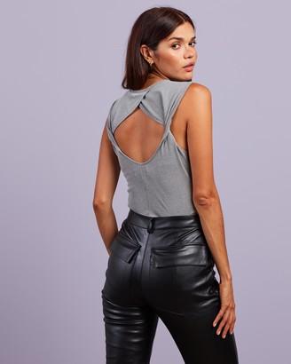 4th & Reckless - Women's Grey Bodysuits - Brixton Bodysuit - Size XXS at The Iconic