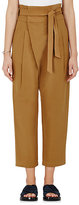 Sea Women's Silk-Cotton Crossover-Front Pants-Yellow