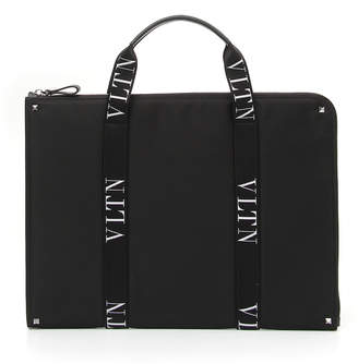 Valentino Garavani Men's VLTN Logo-Strap Document Case