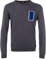 Fendi Love patch knitted jumper - men - Virgin Wool - 50
