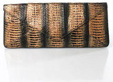 Kotur Multi-Color Snakeskin Print Envelope Clutch Handbag