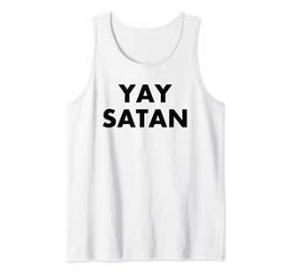 Funny Yay Satan Devil Goth Punk Religious Gift Tank Top