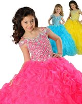 ACE Big Girls' Special Occasion Long Pageant Flower Girl Dress