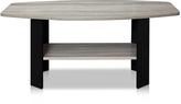 Furinno Oak Gray & Black Simple Design Coffee Table