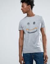 BOSS ORANGE by Hugo Boss Hotdog T-Shirt Regular Fit in Gray Marl