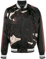 Valentino panther print bomber jacket - men - Polyester - 46