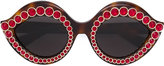 Gucci embellished round sunglasses - unisex - Acetate/metal/glass - One Size