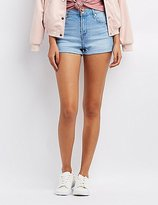 Charlotte Russe Refuge Hi-Rise Cuffed Denim Shorts