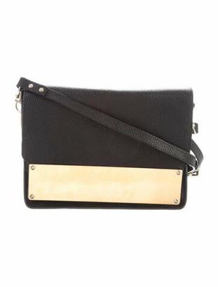 Sophie Hulme Pebbled Leather Flap Bag Black