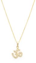 Sydney Evan 14K Yellow Gold & 0.12 Total Ct. Diamond Small Om Pendant Necklace
