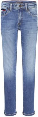 Tommy Hilfiger Boys Spencer Slim Tapered Jeans - Mid Wash