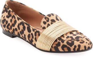 Aquazzura Rendez Vous Jaguar Suede Loafers