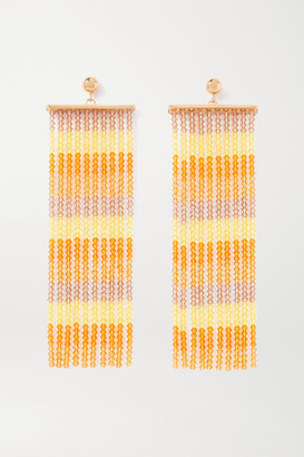 Jacquemus Les Rideaux Beaded Gold-tone Earrings