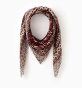 Promod Patterned embroidered scarf