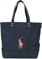Polo Ralph Lauren embroidered logo tote bag