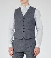 Reiss Reiss Morrow W - Mottled Wool Waistcoat In Blue