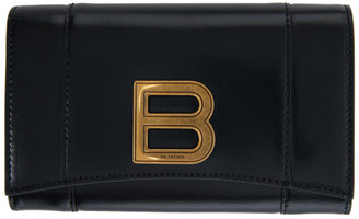 Balenciaga Black Medium Hourglass Wallet