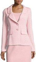 St. John Spring Tweed Knit Blazer, Pink