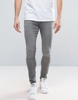 Asos Extreme Super Skinny Jeans In Gray