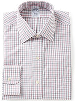 Brooks Brothers Regent-Fit Non-Iron Shadow Check Spread-Collar Dress Shirt