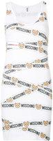 Moschino teddy logo bodycon tank dress - women - Cotton/Spandex/Elastane - XS