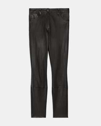 Theory High Waisted Jean in Leather