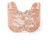 Aurelie Bidermann Rose gold-plated lace cuff