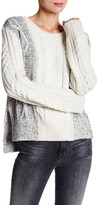 Derek Lam 10 Crosby Crew Neck Wool Blend Sweater