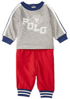 Ralph Lauren Baby Boys Two-Piece Jersey Jogger Shirt and Pants Set