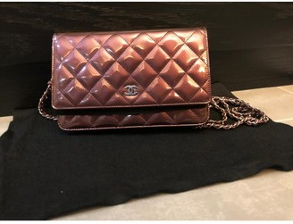 Chanel Wallet on Chain Burgundy Patent leather Handbags