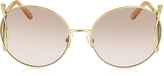 Chloé JACKSON CE 124S Metal Round Women's Sunglasses