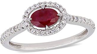 Rina Limor Fine Jewelry 14K 0.76 Ct. Tw. Diamond & Ruby Ring
