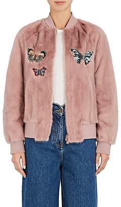 Valentino Women's Embellished Mink Fur Bomber Jacket - Blush