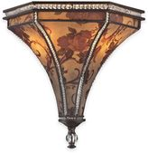 Elk Lighting Mica 2-Light Wall Sconce in Weathered Bronze with Glass Shade
