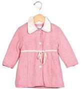 Blumarine Girls' Wool-Blend Herringbone Coat